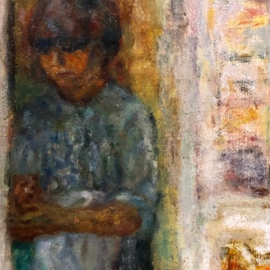 Pierre Bonnard, detail from Interior With Figures (1915), San Diego Museum of Art (loan from John and Toni Bloomberg)
