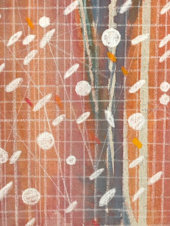 Detail from Howardena Pindell, Space Frame, 1969