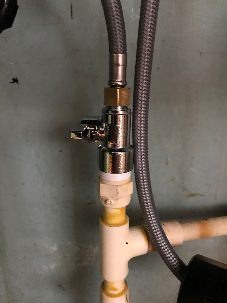 Water Supply Hose and Shut Off Valve