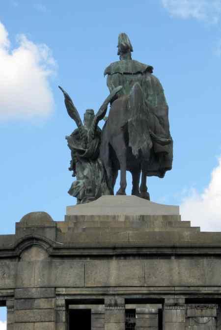 Koblenz, Deusches Eck, standbeeld keizer Wilhelm I