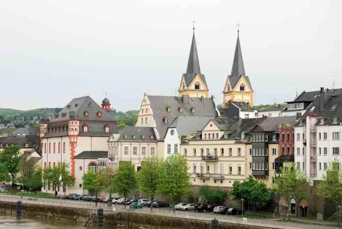Koblenz, Duitsland, Romantische stad Rijn Moezel