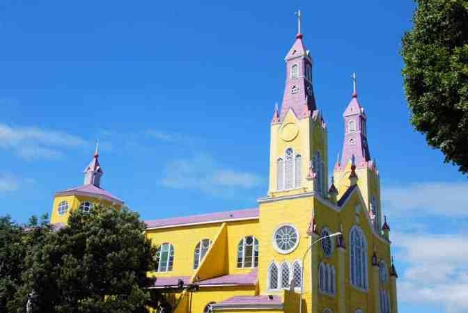 La isla Grande de Chiloé, Iglesia de San Francisco, Castro Chili, Unesco werelderfgoed