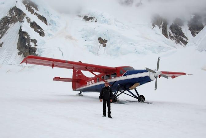 Talkeetna airtaxi, Vliegtocht landing Gletsjer, Alaska, Verenigde Staten