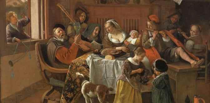 Rijksmuseum-Het vrolijke gezin - Jan Havickszoon Steen