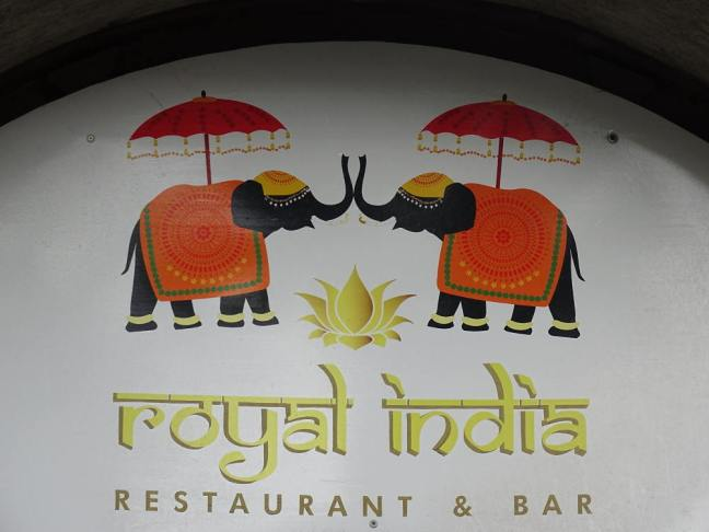 Kroatië 2017: Restaurant 'Royal India', Zagreb.