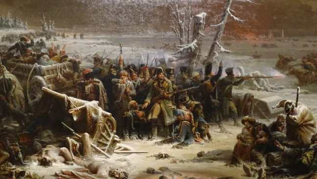 Manchester 2016: Manchester Art Gallery - 'Marshal Ney Supporting the Rear Guard During The Retreat From Moscow' (1856) Adolphe Yvon.