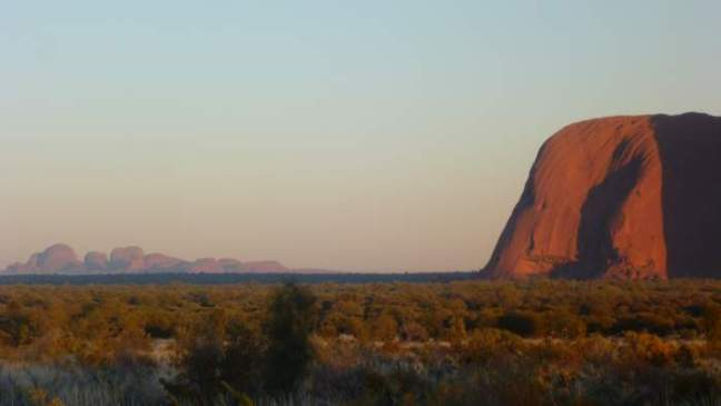 2011 Australia - The Olgas view from Ayers Rock - sunrise