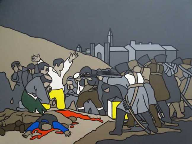 'The Dublin City Gallery – The Huge Lane' - Robert Ballagh - 'The Third of May - Afther Goya - 1970' (1972).