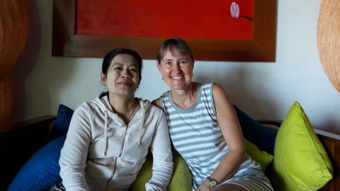 Doris und Ma She Zhin Hlaing