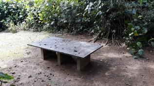 Tischtennis-Tisch aus Stein