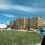 Hier werden die Häuser aus Holzplatten gebaut