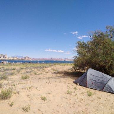 Unser Zelt in der Wüste