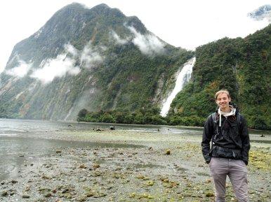 Noch ein Wasserfall mit David