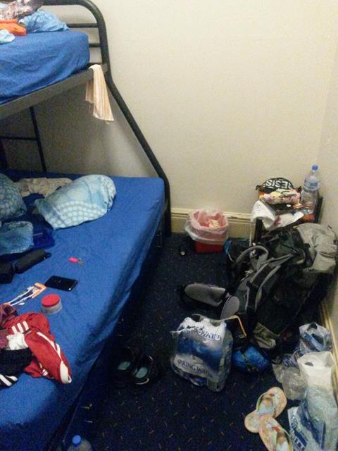 Doppelstockbett im Hostel
