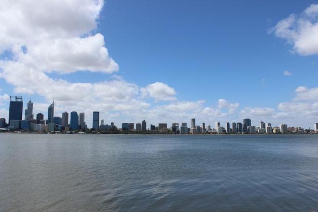 Skyline Perth Stadt in Australien