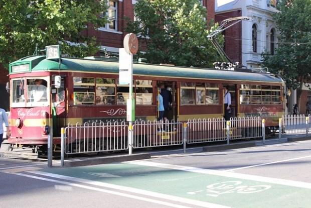 Tram Australien Melbourn