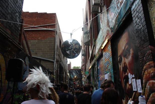 Ein sehr bunter Wochenmarkt in Melbourne