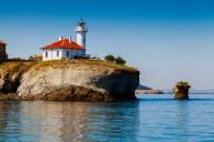 Insel Sweta Anastasia im Schwarzen Meer bei Burgas in Bulgarien