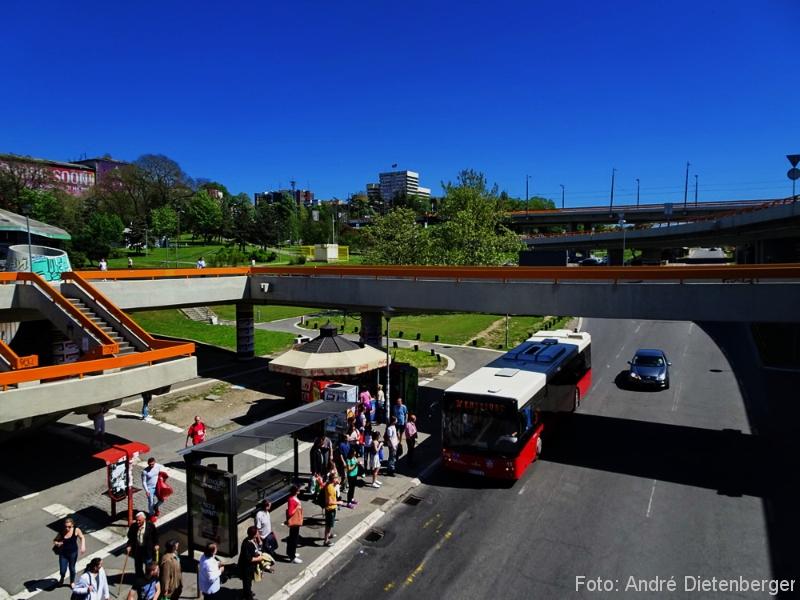 Belgrad - Verkehr, Überführung, Bus