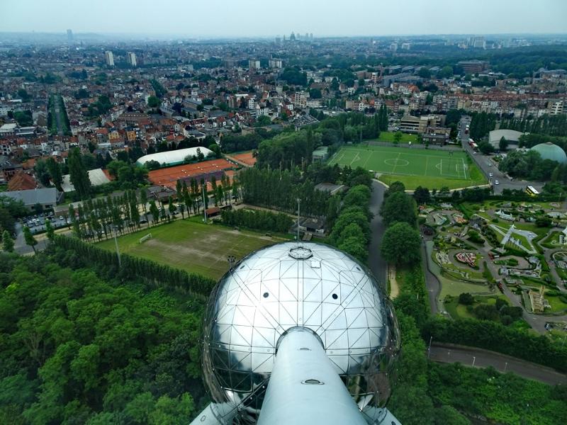 Brüssel - Blick aus dem Atomium