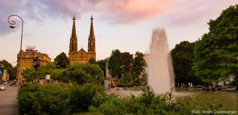 Augustaplatz mit Ev. Stadtkirche