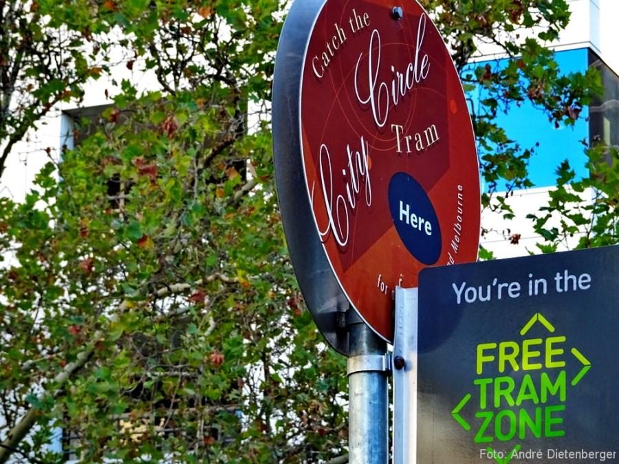 City Circle Tram und Free Tram Zone