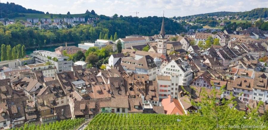 Schaffhausen - Blick vom Munot in die Stadt