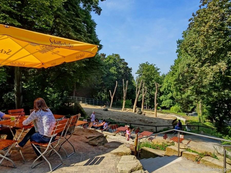 Zoo Wuppertal - Biergarten mit Zooblick