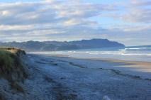 Waihi Beach bei Sonnenuntergang
