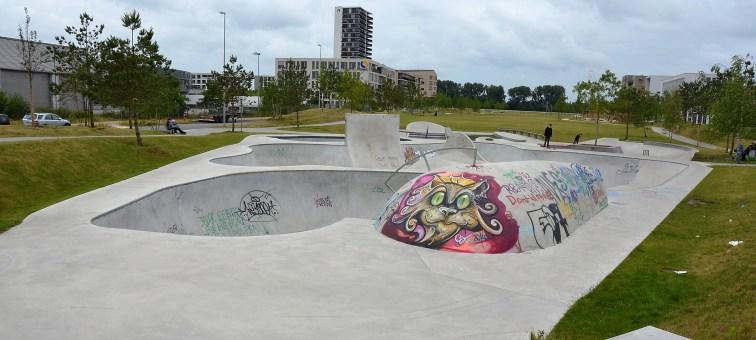 Skateranlage in der Überseestadt