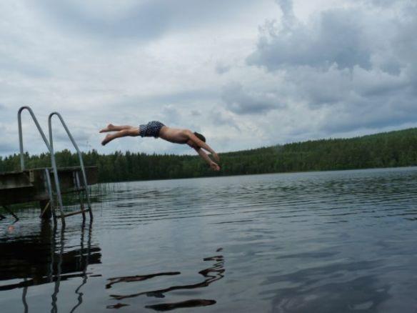 Kopfsprung in den See in der Nähe von Vimmerby (Südschweden) - mein ultimatives Sommer2013-Bild.