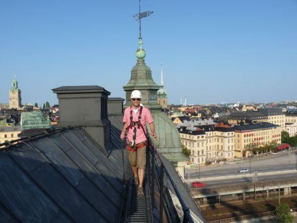 Freihändig übers Dach