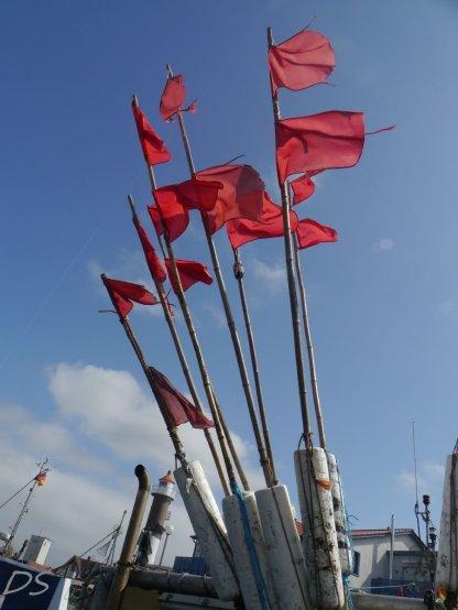 Markierungsflaggen auf Poel