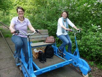 Reisefeder, Draisine, Reiseblog, Bielefeld, Ostwestfalen Reisetipp, Elektromobil, umweltfreundlich reisen