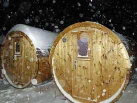 Sauna und beheizte Umkleide