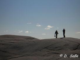 Felsflächen mit Mensch