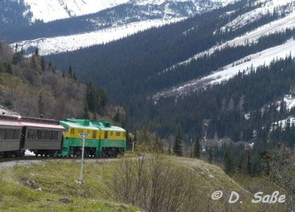 Die klassische White Pass Mountain Train