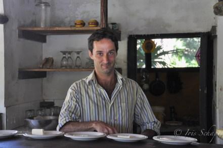 Antoine in seiner Herberge France Amazonia