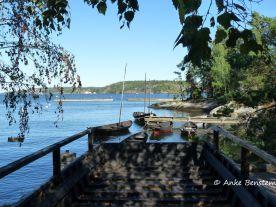 Holzboote im Hafen