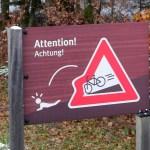 Schilder-Bilder 3: Radfahrer plumps!