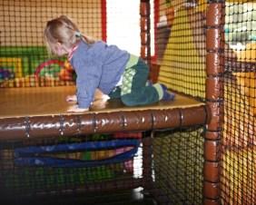 Kleine Kletterhalle am Centerparc-Kinderbauernhof