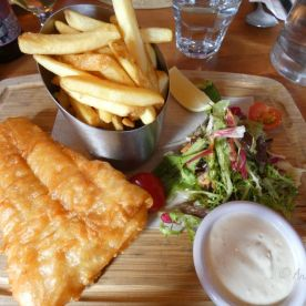Fish and Chips, superfrisch