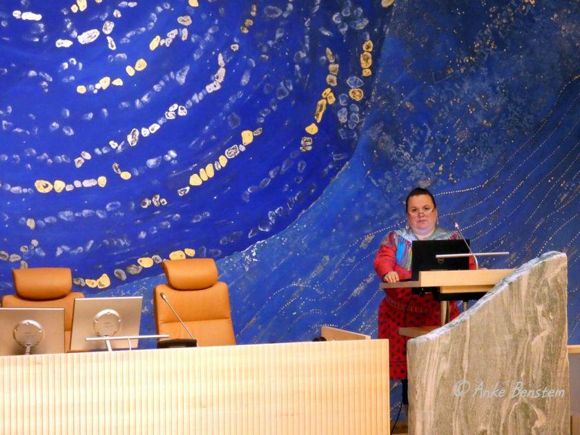 Silja Somby im Sitzungssaal