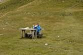 Picknick auf dem Sedlo-Pass