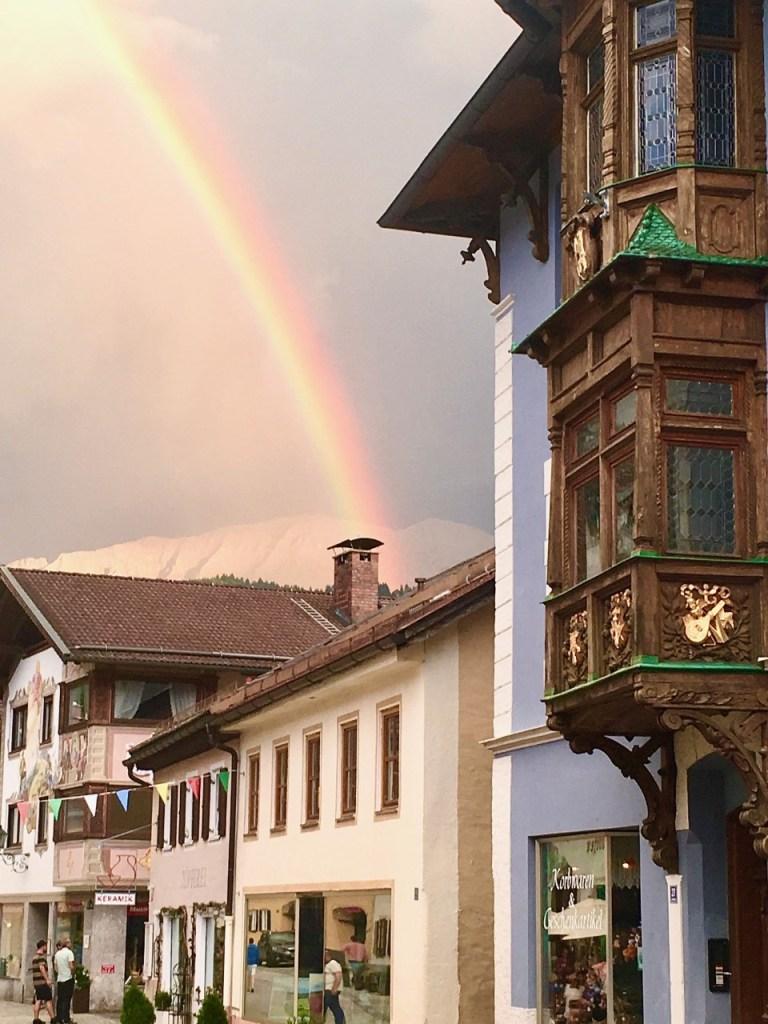 Regnbue i Garmisch-Partenkirchen