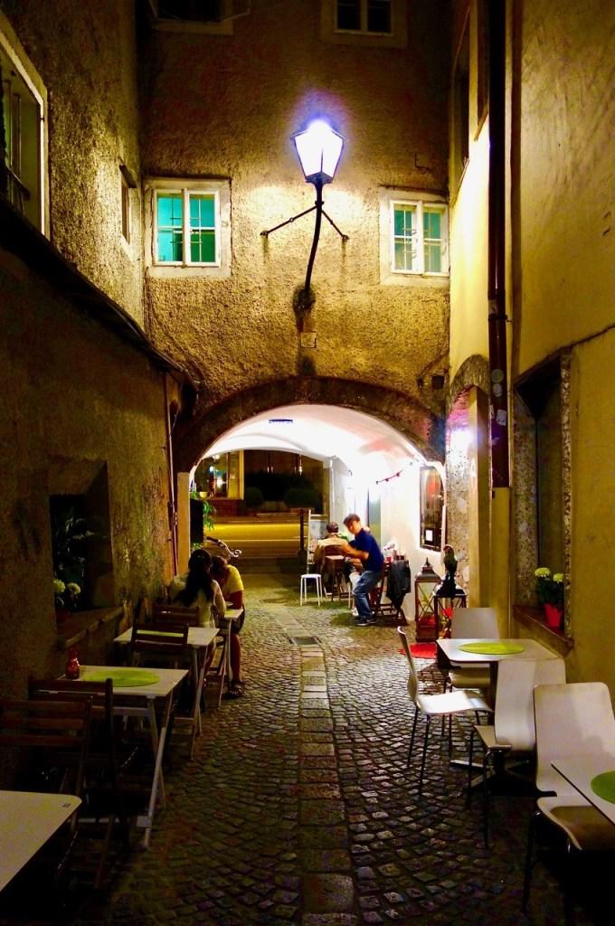 Smug om kvelden i Salzburg