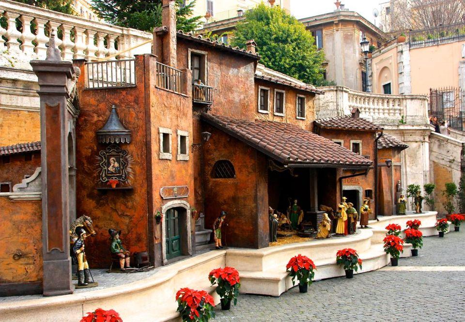 Julekrybbe Spansketrappen i Roma