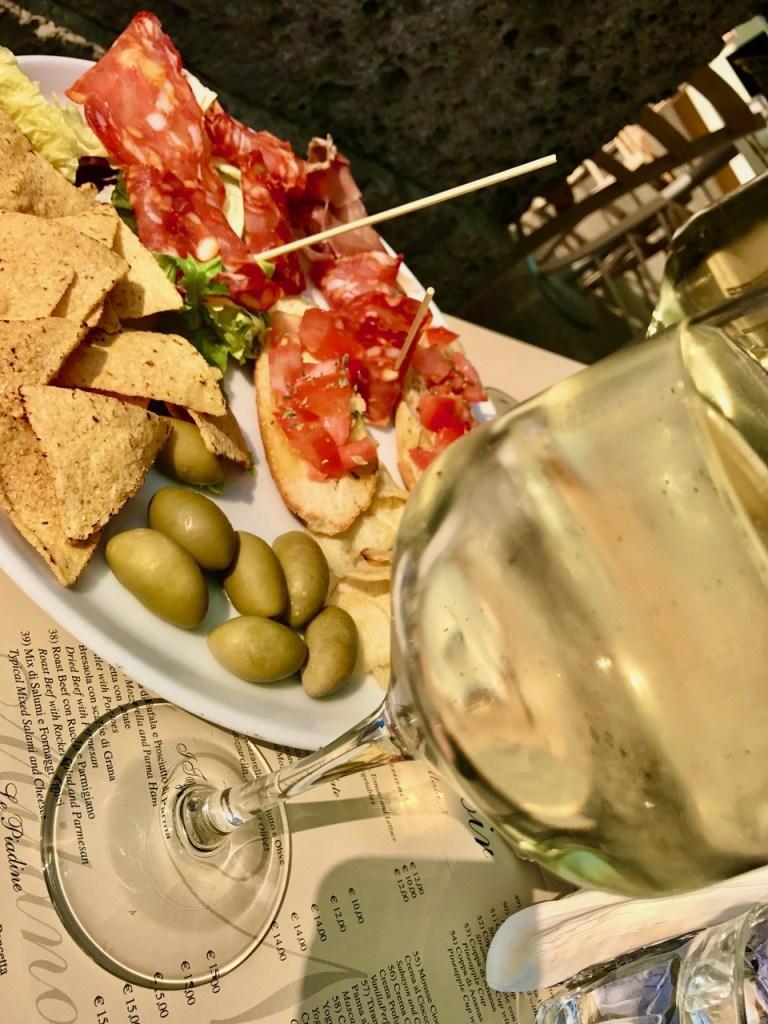 Aperitivo and wine