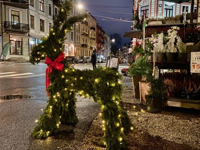 Julepynt i Oslos gater