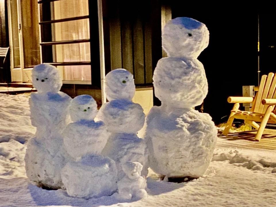 Snømenn på Norefjell